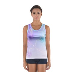 Wings Drawing Soft Background  Sport Tank Top  by amphoto