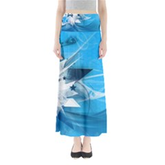 Star Cube Sphere Lines Rays Vector  Full Length Maxi Skirt by amphoto