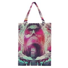 Skull Shape Light Paint Bright 61863 3840x2400 Classic Tote Bag by amphoto