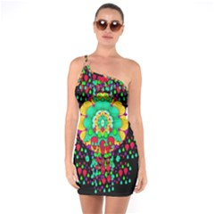 Rain Meets Sun In Soul And Mind One Soulder Bodycon Dress by pepitasart