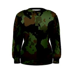 Military Background Texture Surface  Women s Sweatshirt by amphoto