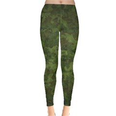 Military Background Spots Texture  Leggings  by amphoto