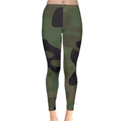 Military Spots Texture Background  Leggings  by amphoto