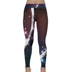 Lines Rays Glare Star Light Shadow  Classic Yoga Leggings by amphoto