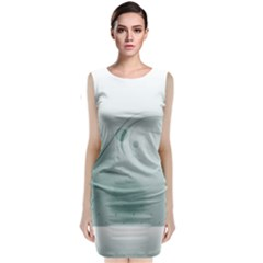 Gray Points Curves Patches Vector Minimalism  Sleeveless Velvet Midi Dress