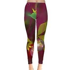 Drawing Abstract Ball Leggings  by amphoto