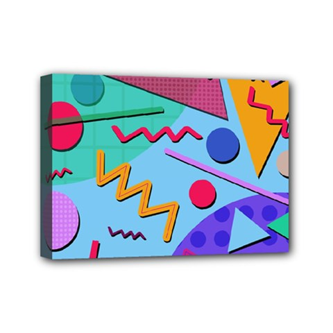 Memphis #10 Mini Canvas 7  X 5  by RockettGraphics