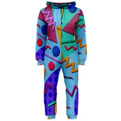 Memphis #10 Hooded Jumpsuit (ladies)  by RockettGraphics