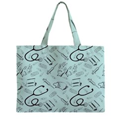 Pattern Medicine Seamless Medical Zipper Mini Tote Bag by Nexatart