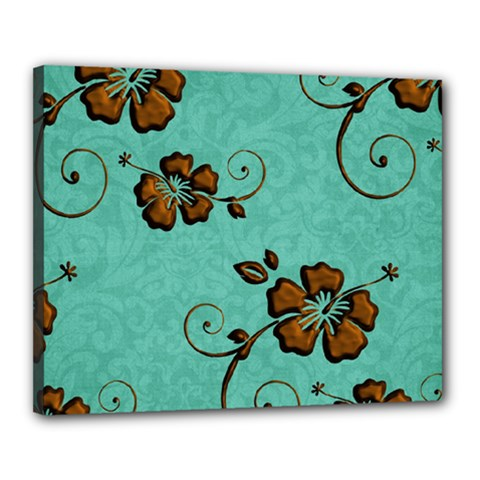 Chocolate Background Floral Pattern Canvas 20  X 16