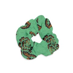 Chocolate Background Floral Pattern Velvet Scrunchie by Nexatart
