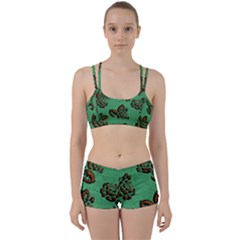 Chocolate Background Floral Pattern Women s Sports Set by Nexatart