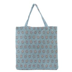 Texture Background Beige Grey Blue Grocery Tote Bag by Nexatart