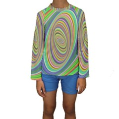 Ellipse Background Elliptical Kids  Long Sleeve Swimwear