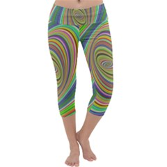 Ellipse Background Elliptical Capri Yoga Leggings