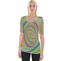 Ellipse Background Elliptical Wide Neckline Tee