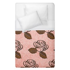 Chocolate Background Floral Pattern Duvet Cover (single Size) by Nexatart