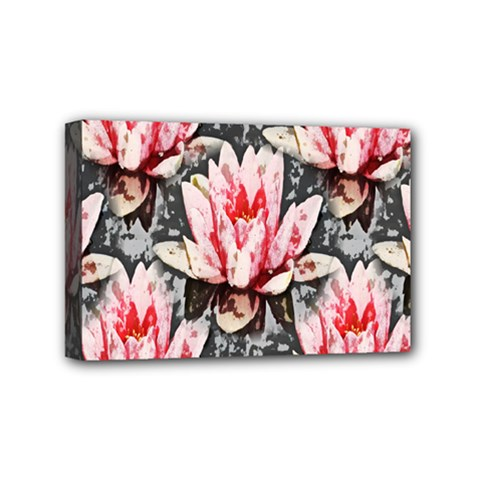 Water Lily Background Pattern Mini Canvas 6  X 4