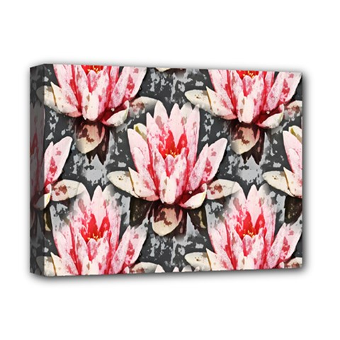 Water Lily Background Pattern Deluxe Canvas 16  X 12
