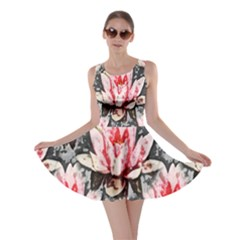 Water Lily Background Pattern Skater Dress