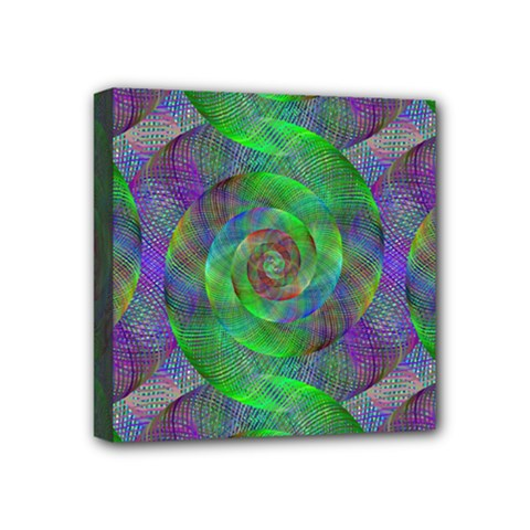 Fractal Spiral Swirl Pattern Mini Canvas 4  X 4  by Nexatart