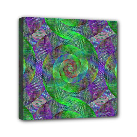Fractal Spiral Swirl Pattern Mini Canvas 6  X 6  by Nexatart