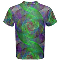 Fractal Spiral Swirl Pattern Men s Cotton Tee