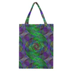 Fractal Spiral Swirl Pattern Classic Tote Bag by Nexatart