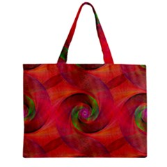 Red Spiral Swirl Pattern Seamless Zipper Mini Tote Bag by Nexatart