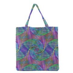 Spiral Pattern Swirl Pattern Grocery Tote Bag