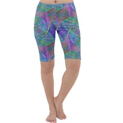 Spiral Pattern Swirl Pattern Cropped Leggings