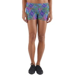Spiral Pattern Swirl Pattern Yoga Shorts