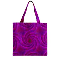 Pink Abstract Background Curl Zipper Grocery Tote Bag by Nexatart