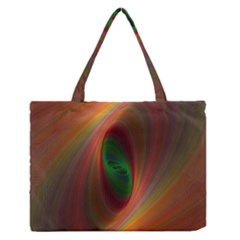Ellipse Fractal Orange Background Zipper Medium Tote Bag by Nexatart