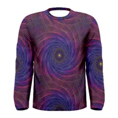 Pattern Seamless Repeat Spiral Men s Long Sleeve Tee by Nexatart