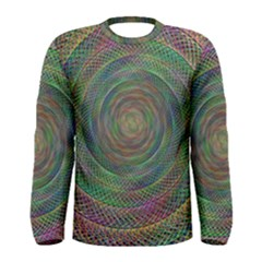 Spiral Spin Background Artwork Men s Long Sleeve Tee