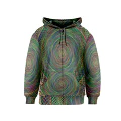 Spiral Spin Background Artwork Kids  Zipper Hoodie by Nexatart