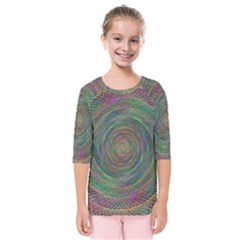 Spiral Spin Background Artwork Kids  Quarter Sleeve Raglan Tee by Nexatart