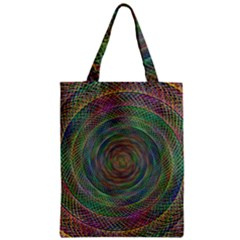 Spiral Spin Background Artwork Zipper Classic Tote Bag by Nexatart