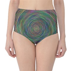 Spiral Spin Background Artwork High Waist Bikini Bottoms by Nexatart