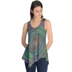 Spiral Spin Background Artwork Sleeveless Tunic