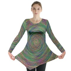Spiral Spin Background Artwork Long Sleeve Tunic  by Nexatart