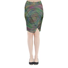 Spiral Spin Background Artwork Midi Wrap Pencil Skirt by Nexatart