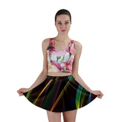 Rainbow Ribbons Mini Skirt