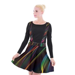 Rainbow Ribbons Suspender Skater Skirt
