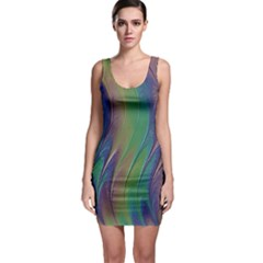 Texture Abstract Background Bodycon Dress