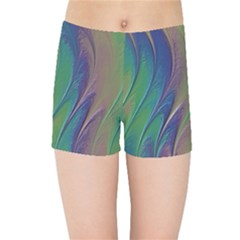 Texture Abstract Background Kids Sports Shorts