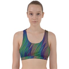 Texture Abstract Background Back Weave Sports Bra by Nexatart