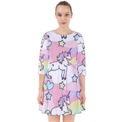 Unicorn Rainbow Smock Dress