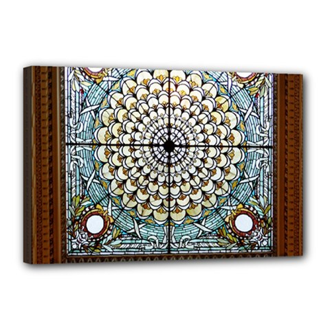 Stained Glass Window Library Of Congress Canvas 18  X 12